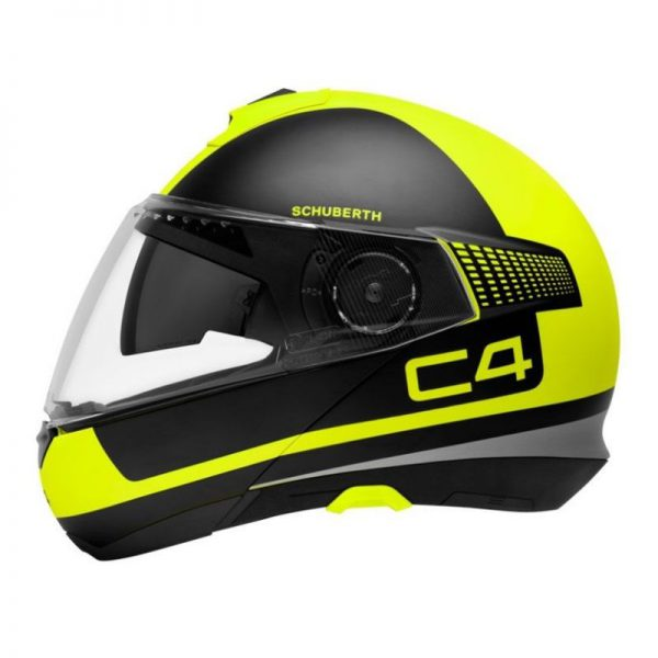 CASCO SCHUBERT C4 BLACK MATT YELLOW FLUO