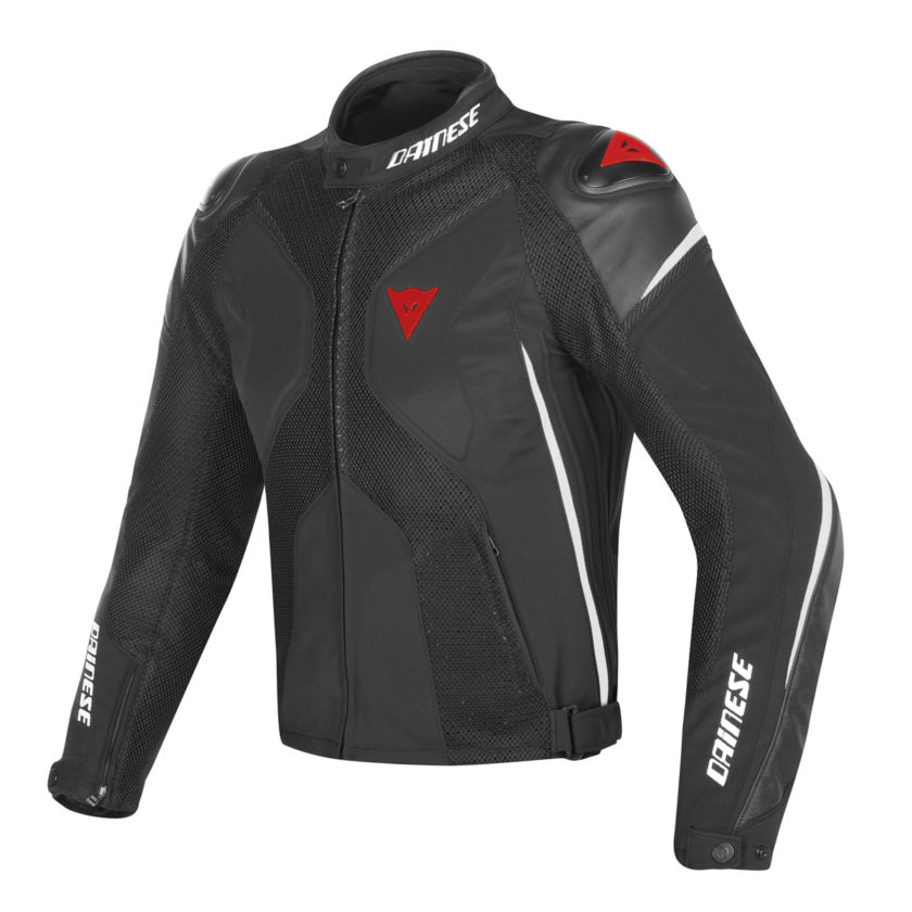 DAINESE GIACCA IN TESSUTO SUPER RIDER D-DRY NERO BIANCO ROSSO