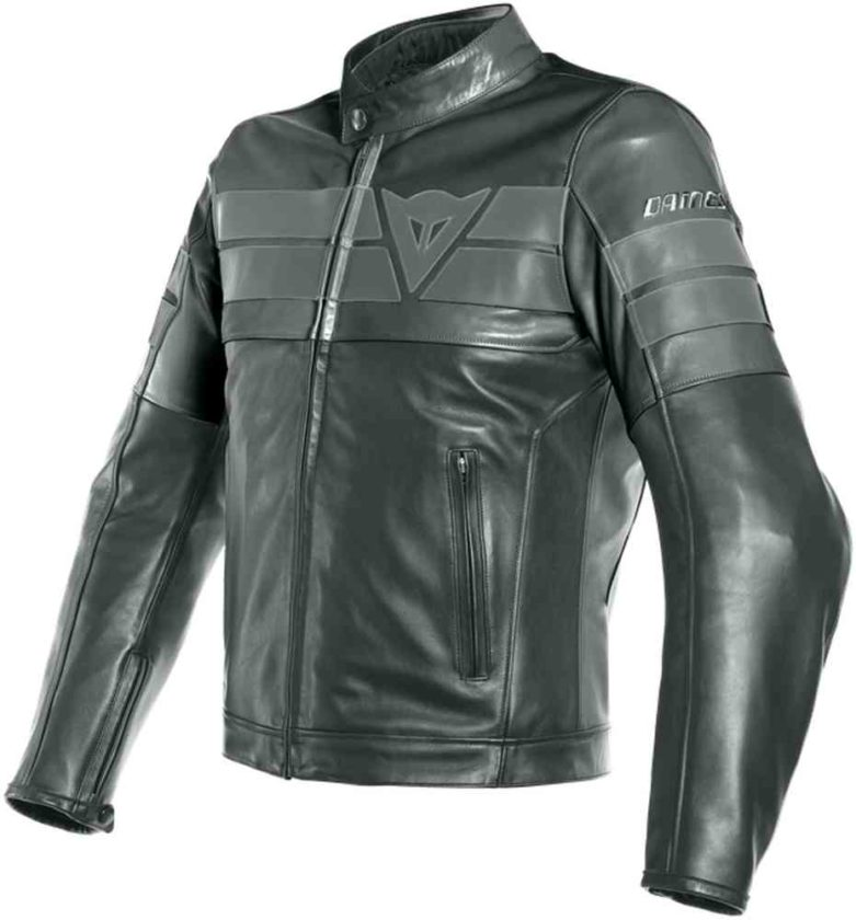 DAINESE GIACCA IN PELLE 8-TRACK NERO