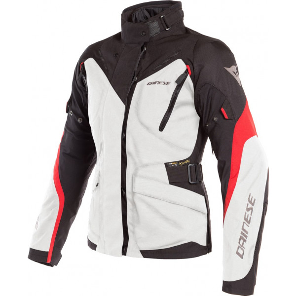 DAINESE GIACCA IN TESSUTO TEMPEST 2 LADY D-DRY GRIGIO NERO ROSSO DONNA