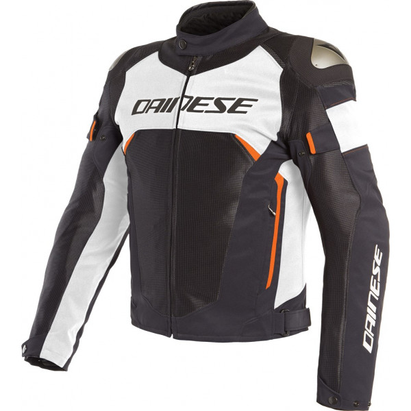DAINESE GIACCA IN TESSUTO DINAMICA AIR D-DRY NERO BIANCO ROSSO FLUO