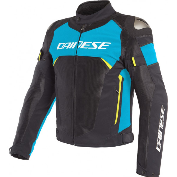 DAINESE GIACCA IN TESSUTO DINAMICA AIR D-DRY NERO BLU GIALLO FLUO