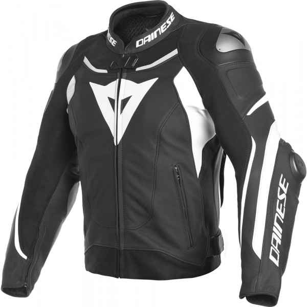DAINESE GIACCA IN PELLE SUPER SPEED 3 NERO BIANCO
