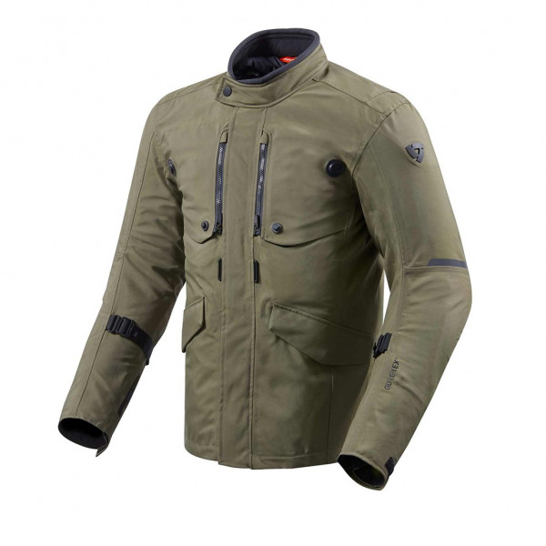 REV'IT GIACCA TOURING TRENCH GTX VERDE SCURO