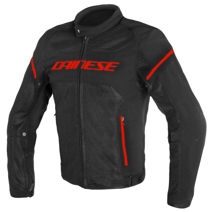 DAINESE GIACCA MOTO AIR FRAME D1 TEX NERO ROSSO