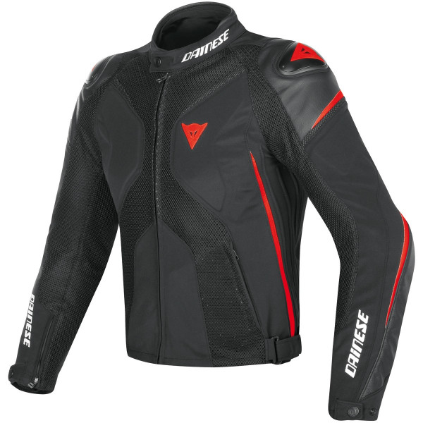DAINESE GIACCA IN TESSUTO SUPER RIDER D-DRY NERO ROSSO