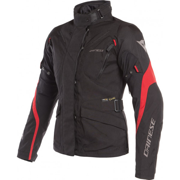 DAINESE GIACCA MOTO DONNA TEMPEST 2 D-DRY LADY NERO ROSSO